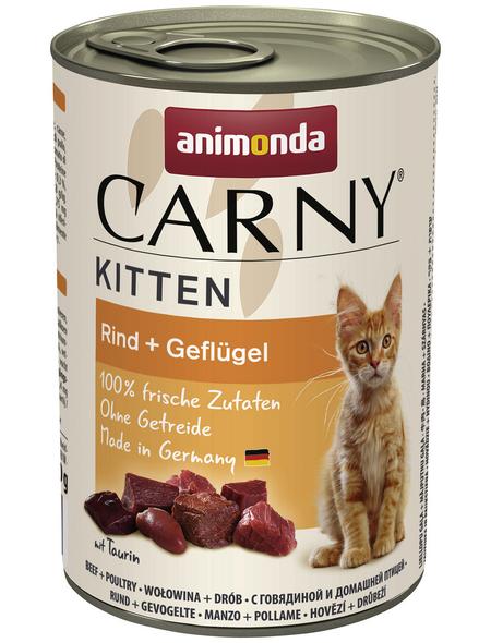 CARNY® Katzen-Nassfutter »Kitten«, Geflügel, 400 g