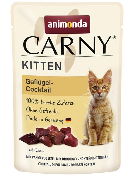CARNY® Katzen-Nassfutter »Kitten«, Geflügel, 85 g