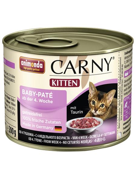CARNY® Katzen-Nassfutter »Kitten«, Pâté, 200 g