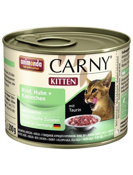CARNY® Katzen-Nassfutter »Kitten«, Rind/Huhn/Kaninchen, 200 g