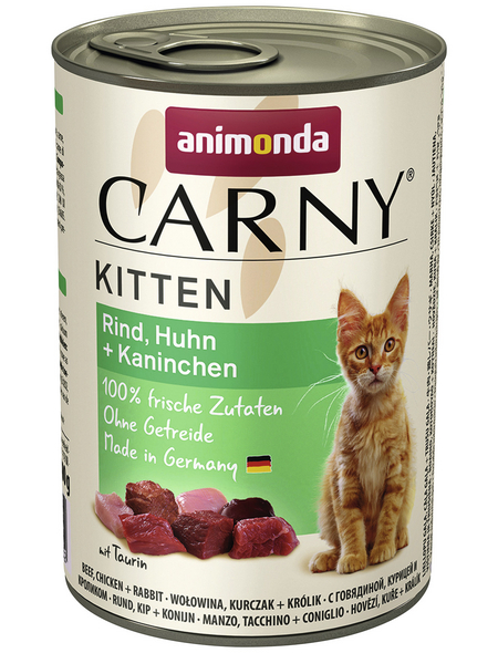 CARNY® Katzen-Nassfutter »Kitten«, Rind/Huhn/Kaninchen, 400 g