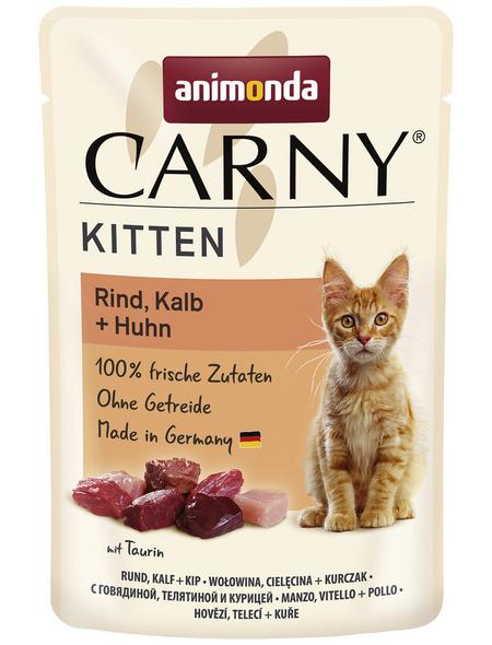 CARNY® Katzen-Nassfutter »Kitten«, Rind/Kalb, 85 g