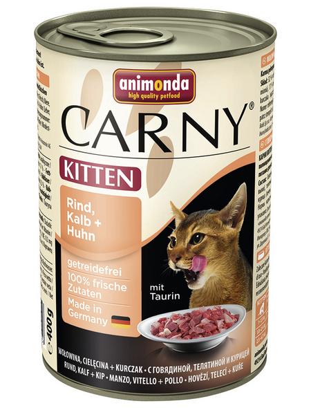 CARNY® Katzen-Nassfutter »Kitten«, Rind/Kalb/Huhn, 400 g