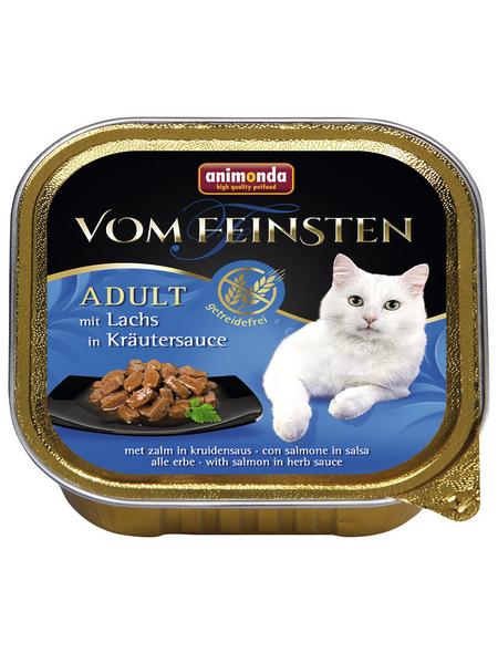 VOM FEINSTEN Katzen-Nassfutter, Lachs/Kräuter, 100 g