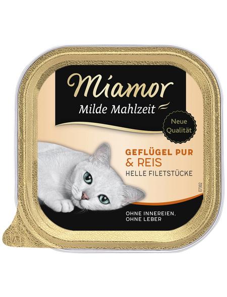 MIAMOR Katzen Nassfutter »Milde Mahlzeit«, Geflügel / Reis, 16 x 100 g
