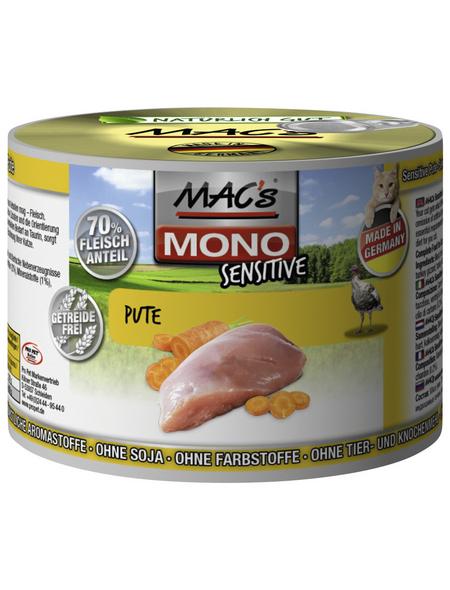 MAC'S Katzen-Nassfutter »Mono«, Pute, 6 x 200 g