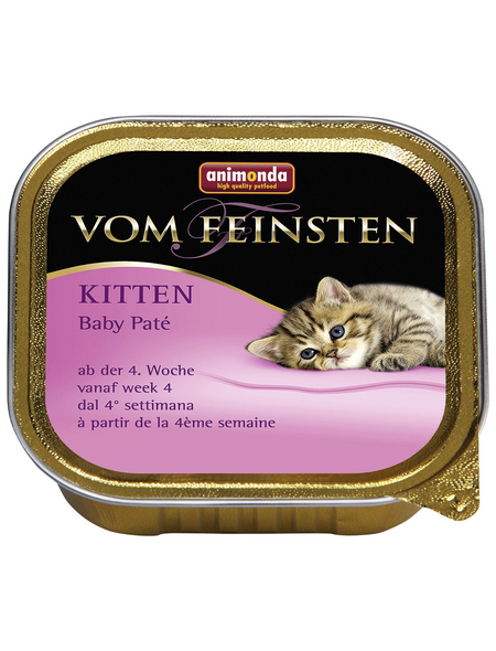 VOM FEINSTEN Katzen-Nassfutter, Pâté, 100 g