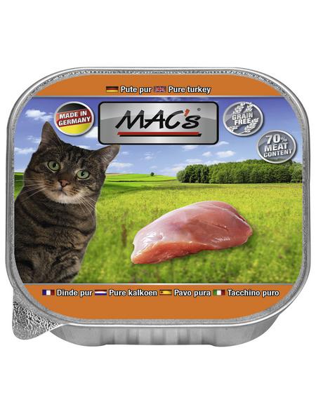 MAC'S Katzen-Nassfutter, Pute, 16 x 85 g