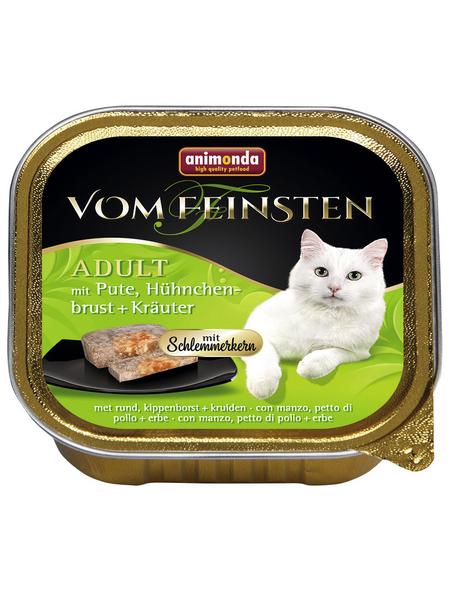 VOM FEINSTEN Katzen-Nassfutter, Pute/Hühnchen/Kräuter, 100 g