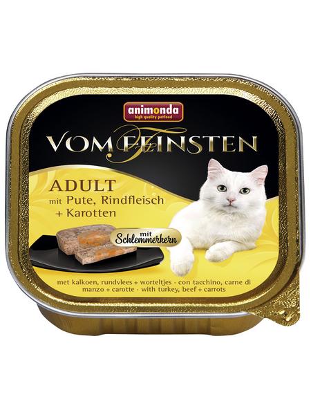 VOM FEINSTEN Katzen-Nassfutter, Pute/Rind/Karotte, 100 g