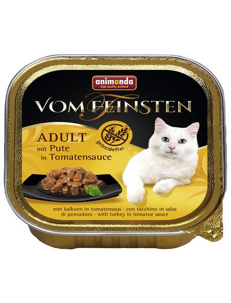 VOM FEINSTEN Katzen-Nassfutter, Pute/Tomate, 100 g