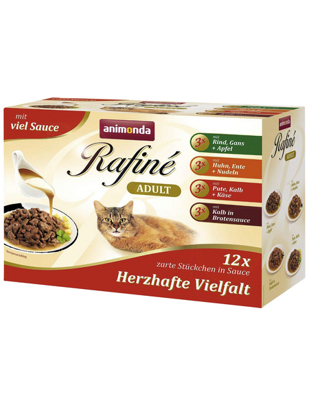 ANIMONDA Katzen Nassfutter »Rafiné«, Mix, 4x1,2 kg