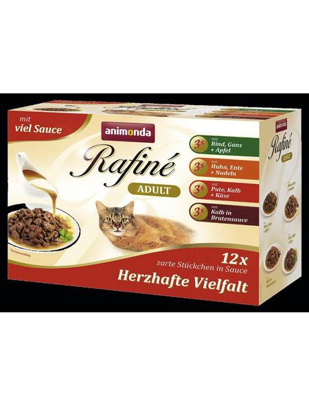 animondo Katzen Nassfutter »Rafiné«, Mix, 4x1,2 kg
