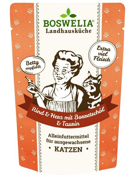 BOSWELIA Katzen-Nassfutter, Rind, 12 x 200g
