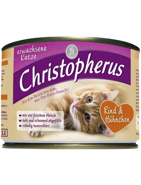 Katzen Nassfutter, Rind / Hühnchen, 6x200 g