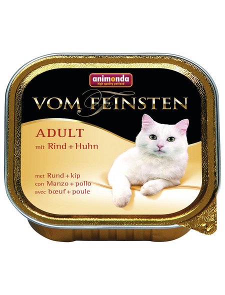 VOM FEINSTEN Katzen-Nassfutter, Rind/Huhn, 100 g