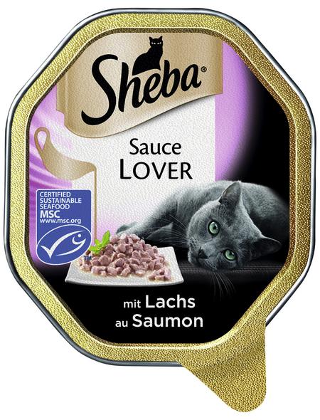 SHEBA Katzen Nassfutter »Sauce Lover«, Lachs, 22x85 g