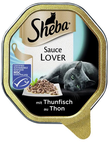 SHEBA Katzen Nassfutter »Sauce Lover«, Thunfisch, 22 x 85 g