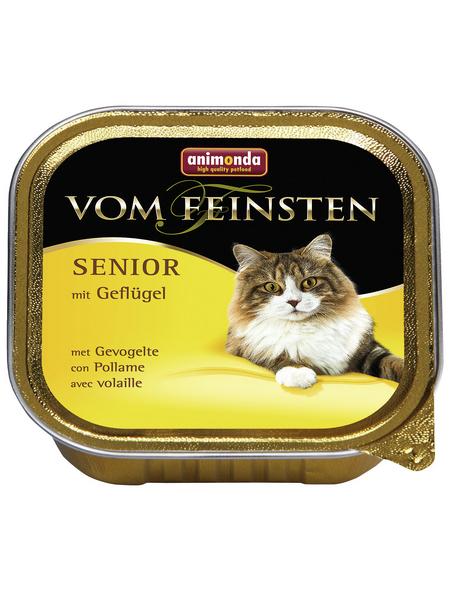 VOM FEINSTEN Katzen-Nassfutter »Senior«, Geflügel, 32 Schalen, je 100 g
