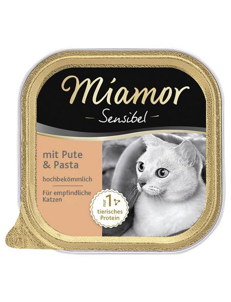 MIAMOR Katzen Nassfutter »Sensible«, Pute / Pasta, 16 x 100 g