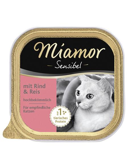 MIAMOR Katzen Nassfutter »Sensible«, Rind / Reis, 16 x 100 g