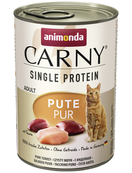 CARNY® Katzen-Nassfutter »Single Protein«, Pute, 400 g