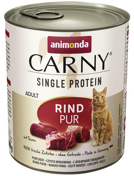 CARNY® Katzen-Nassfutter »Single Protein«, Rind, 800 g