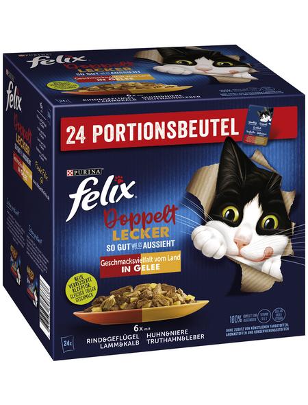 PURINA Katzen Nassfutter »So gut wie es aussieht - Doppelt lecker«, Mix, 4x8,16 kg