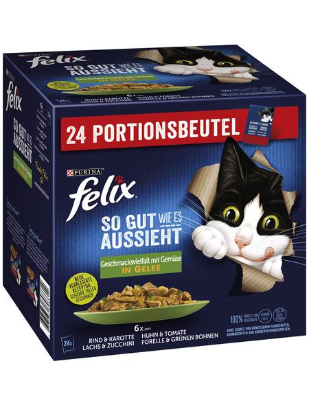 FELIX Katzen-Nassfutter »So gut wie es aussieht«, gemischte Vielfalt