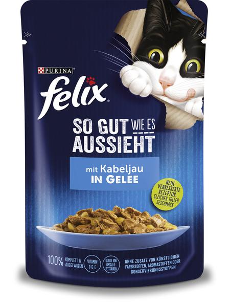 FELIX Katzen Nassfutter »So gut wie es aussieht «, Kabeljau, 24x85 g