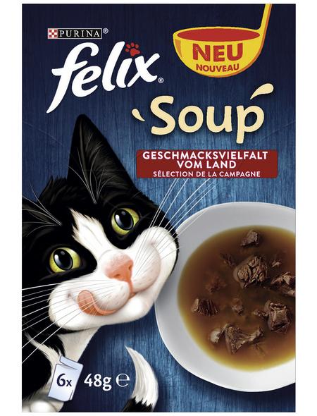 FELIX Katzen Nassfutter »Soup«, 8 Packungen à 2304 g