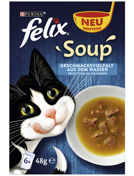 FELIX Katzen Nassfutter »Soup«, Gemischt, 8x2,3 kg