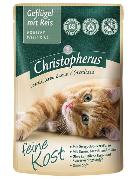 Katzen Nassfutter »Sterilized«, 12 Beutel à 85 g