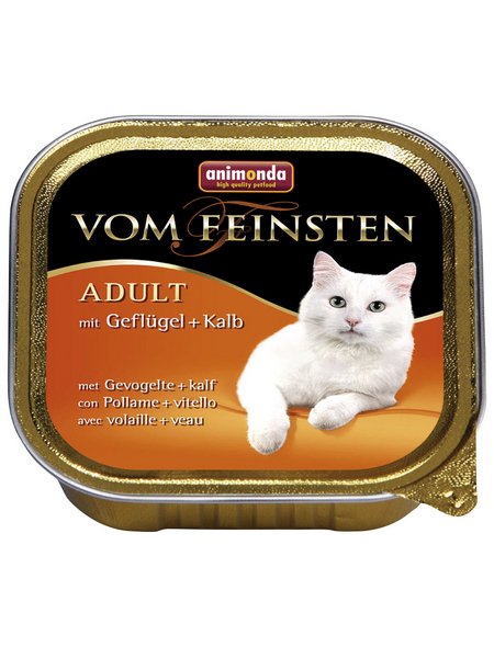 ANIMONDA Katzen Nassfutter »Vom Feinsten«, Geflügel / Kalb, 32x100 g