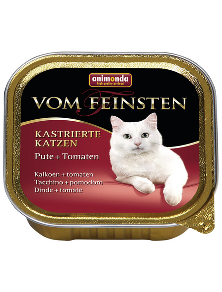 ANIMONDA Katzen Nassfutter »Vom Feinsten«, Pute, 32x100 g