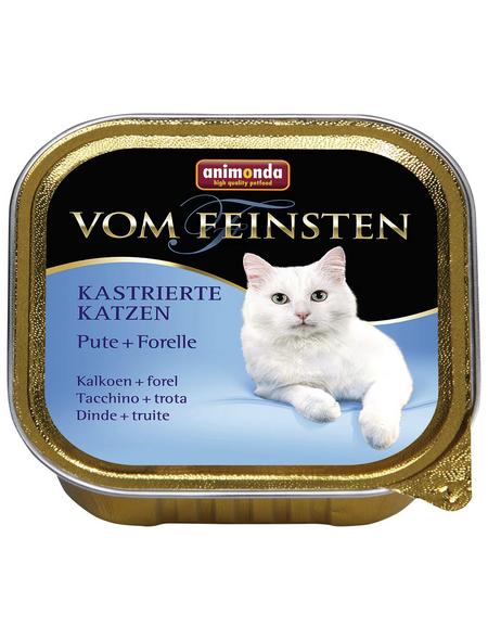 animondo Katzen Nassfutter »Vom Feinsten«, Pute / Forelle, 32x100 g