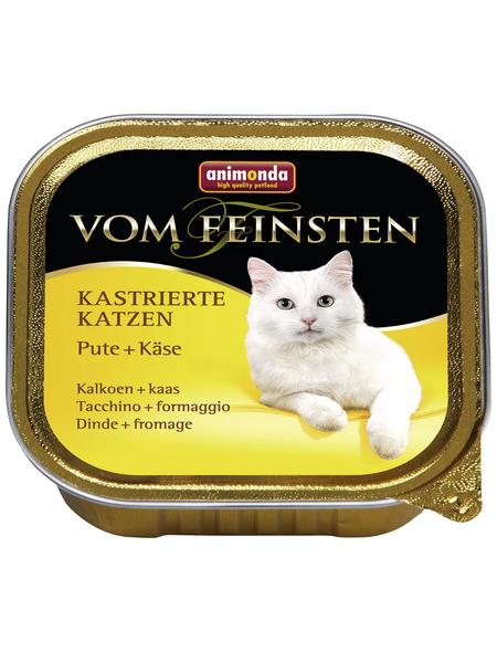 ANIMONDA Katzen Nassfutter »Vom Feinsten«, Pute / Käse, 32x100 g