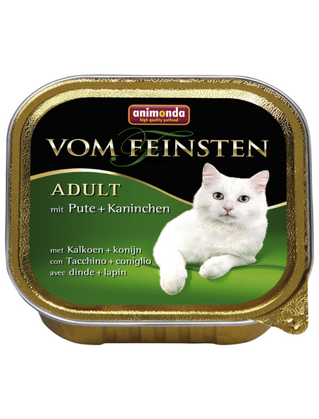 animondo Katzen Nassfutter »Vom Feinsten«, Pute / Kaninchen, 32x100 g