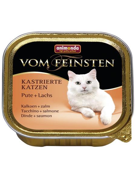 ANIMONDA Katzen Nassfutter »Vom Feinsten«, Pute / Lachs, 32x100 g