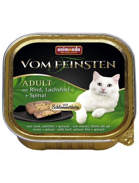 animondo Katzen Nassfutter »Vom Feinsten«, Rind, 32x100 g