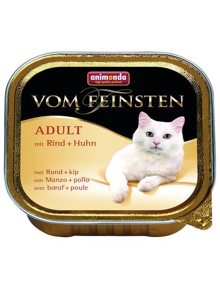 animondo Katzen Nassfutter »Vom Feinsten«, Rind / Huhn, 32x100 g
