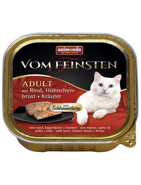 ANIMONDA Katzen Nassfutter »Vom Feinsten«, Rind / Kräuter, 32x100 g