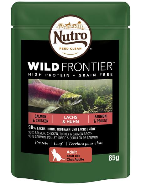 NUTRO Katzen Nassfutter »Wild Frontier«, Lachs / Huhn, 24x85 g