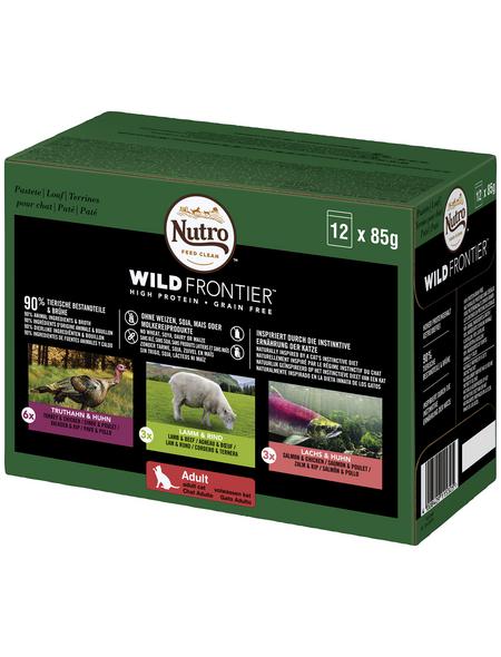 NUTRO Katzen Nassfutter »Wild-Frontier«, Truthahn/Huhn/Lamm/Rind/Lachs, 12 x 85 g