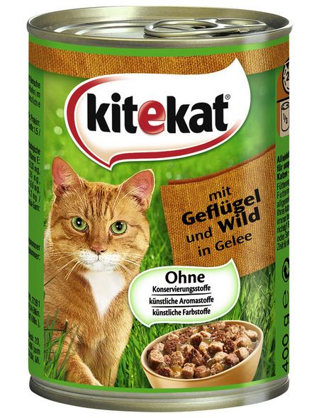 Katzen-Nassfutter, Wild & Geflügel, 400 g