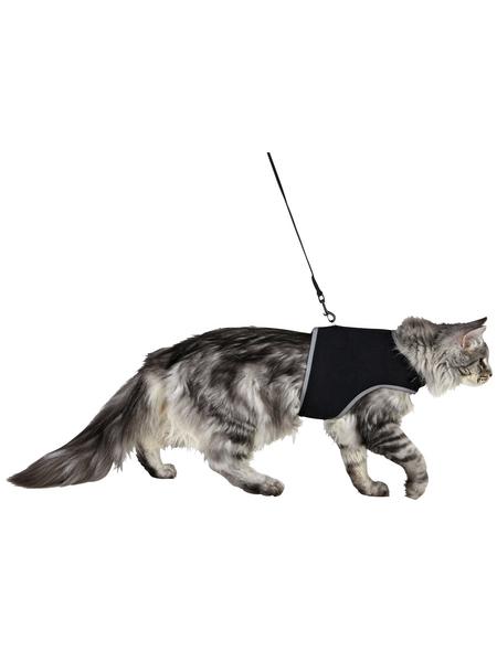 Katzengeschirr, XL, Nylon, schwarz