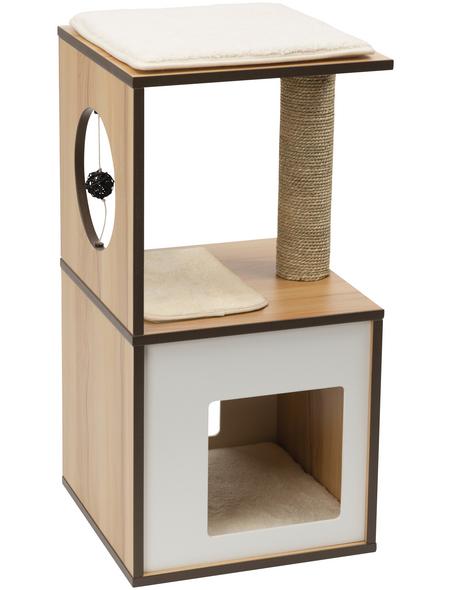 Katzenmöbel »V-box«, walnussfarben