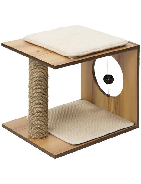 Katzenmöbel »V-stool«, walnussfarben