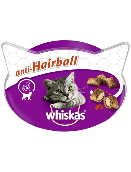 WHISKAS Katzensnack »Anti-Hairball«, 60 g, Fleisch