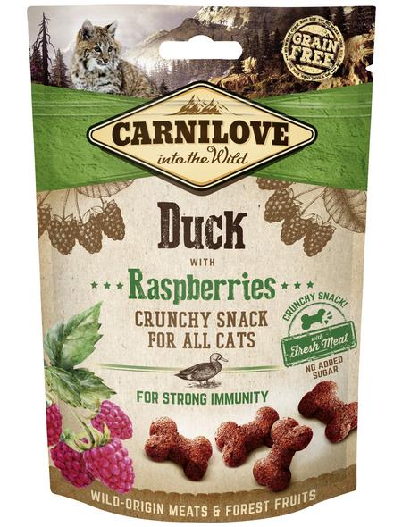 carnilove Katzensnack »Crunchy Snack«, 50 g, Ente/Himbeer